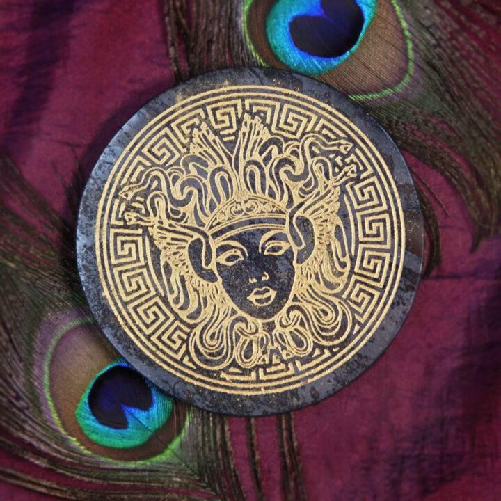Athena's Shield Hematite Charging Plate
