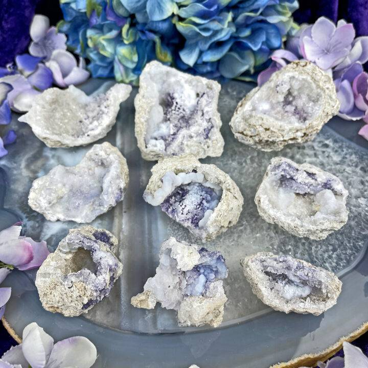 Angelic Guidance Chalcedony and Fluorite Geode