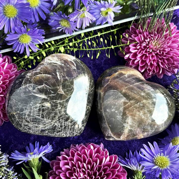 Black Moonstone Vision and Protection Heart
