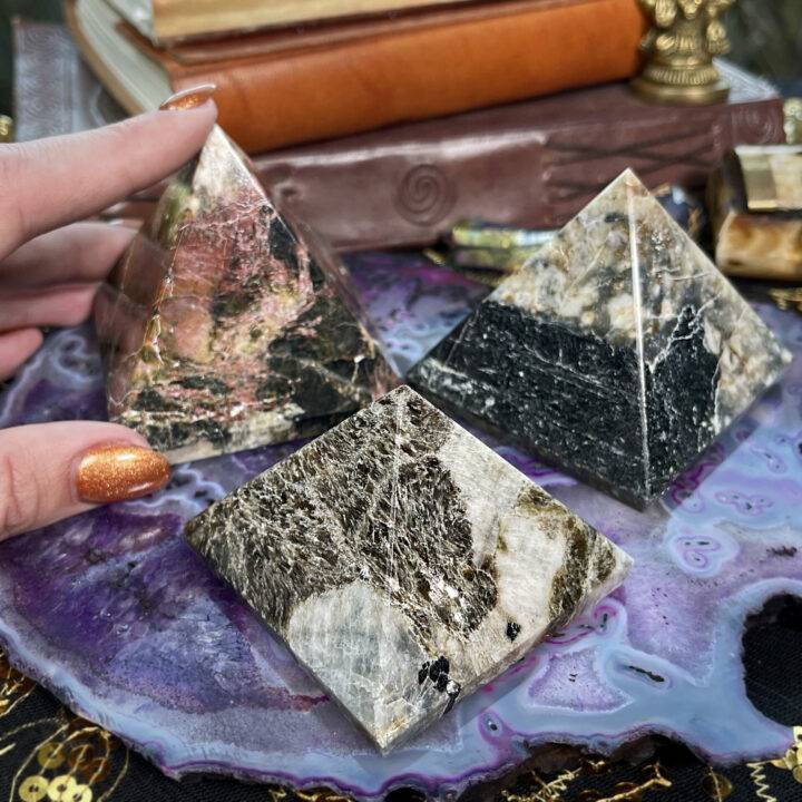 Black Tourmaline Alchemy Pyramid