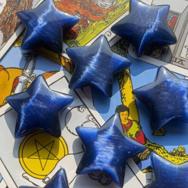 Dark Blue Cat's Eye Star BeeBop