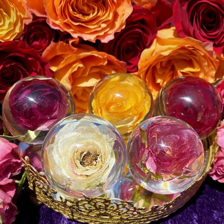 Eternal Love Rose in Orgone Sphere