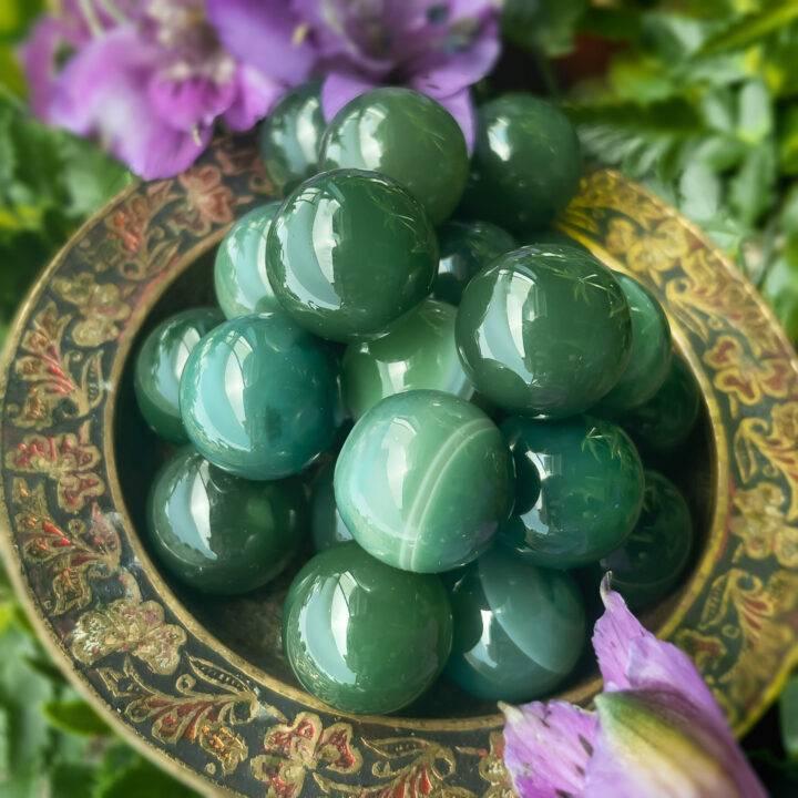Healing Harmony Mini Green Agate Sphere