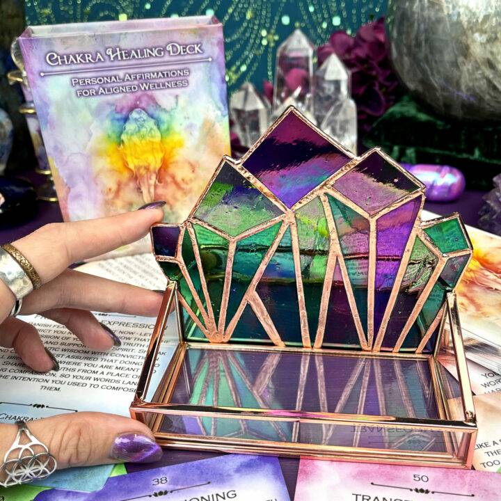 Handmade Glass Oracle Card Holder