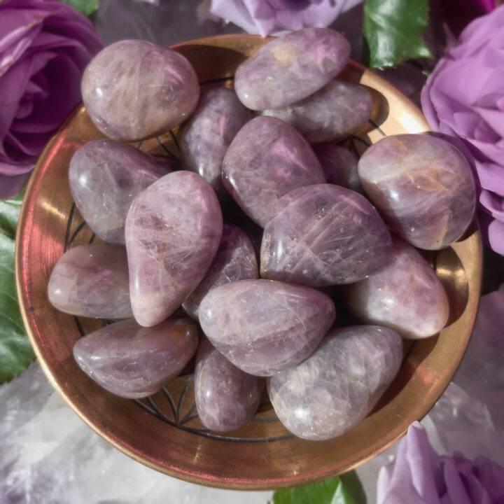 Tumbled Lavender Rose Quartz