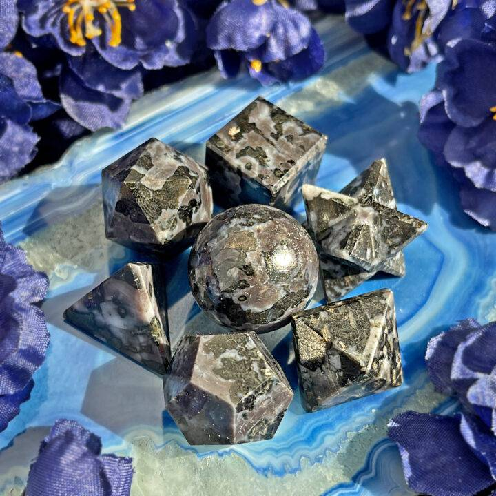 Merlinite Sacred Geometry Set