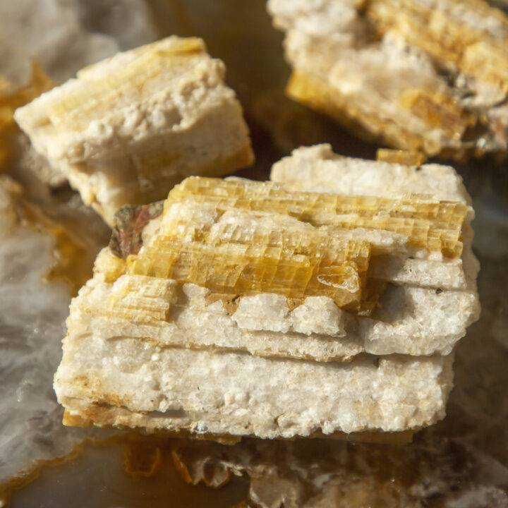 Rare Uplifting Natural Yellow Tourmaline in Quartz Matrix