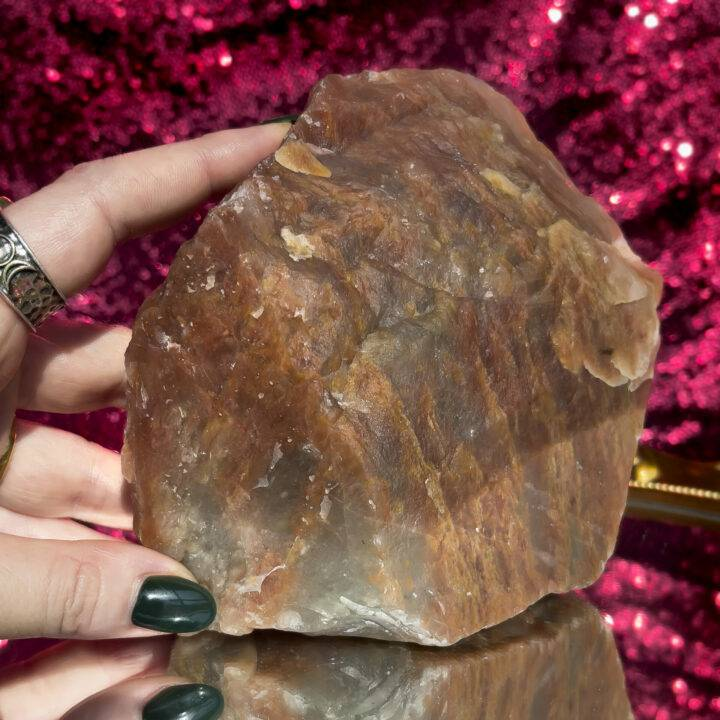 Natural Aragonite and Blue Calcite