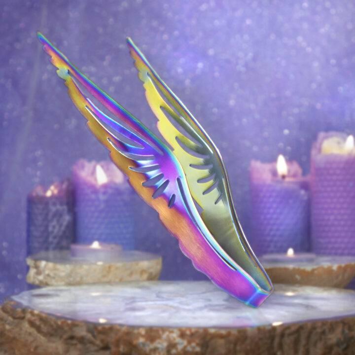 Rainbow Wings Incense Charcoal Tongs