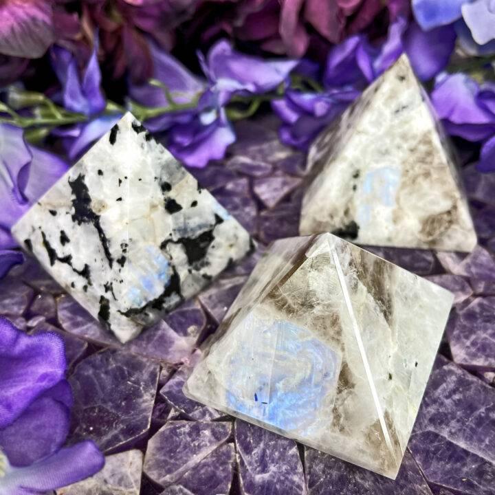 Rainbow Moonstone Pyramid of Possibility