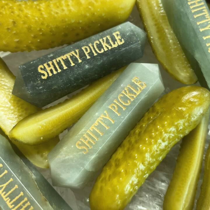 Shitty Pickle Green Aventurine Wand