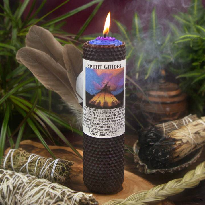 Spirit Guides Beeswax Intention Candle