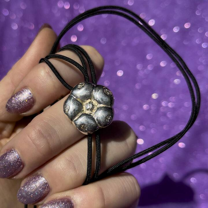 Sterling Silver Peyote with String Pendant