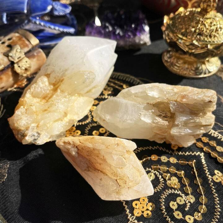 Sulfur Candle Quartz Alchemy Point