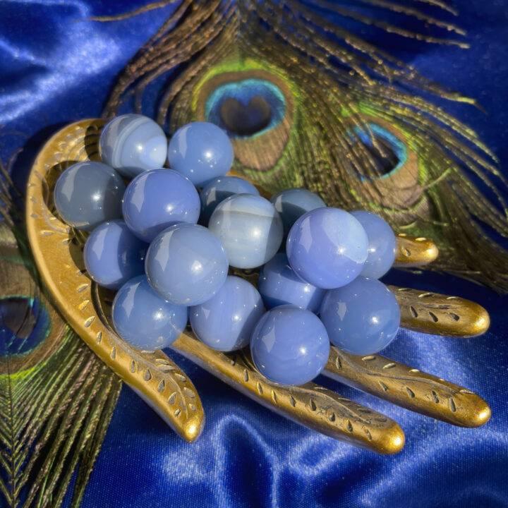 Third Eye Opening Mini Blue Agate Sphere
