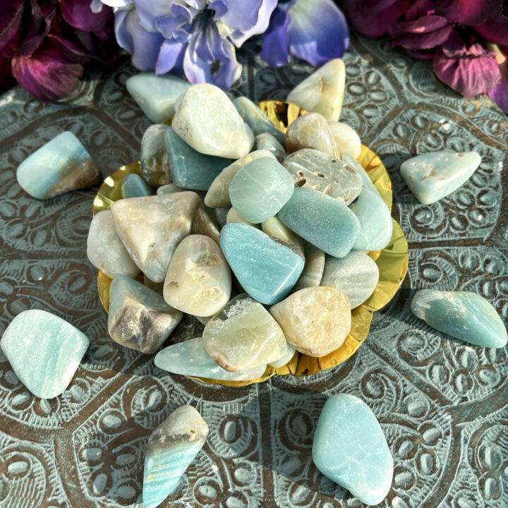 Tumbled Not Your Mother's Holy Cow Amazonite