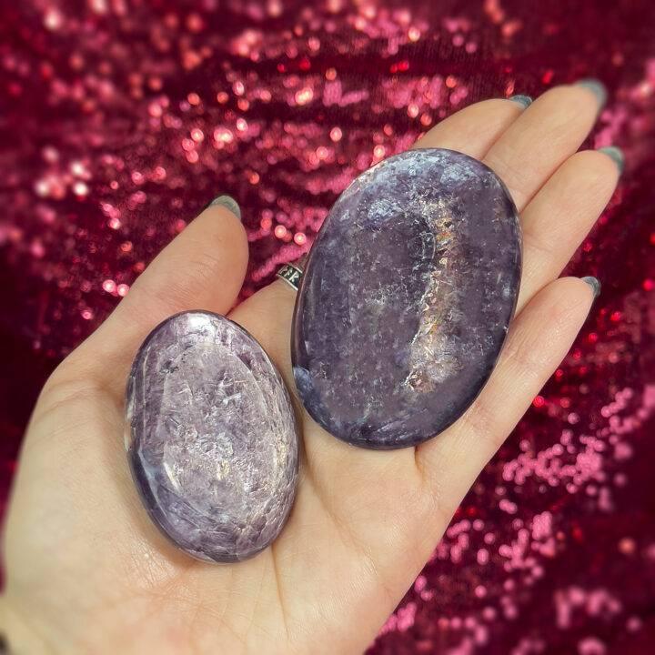 AAA Lepidolite Palm Stone
