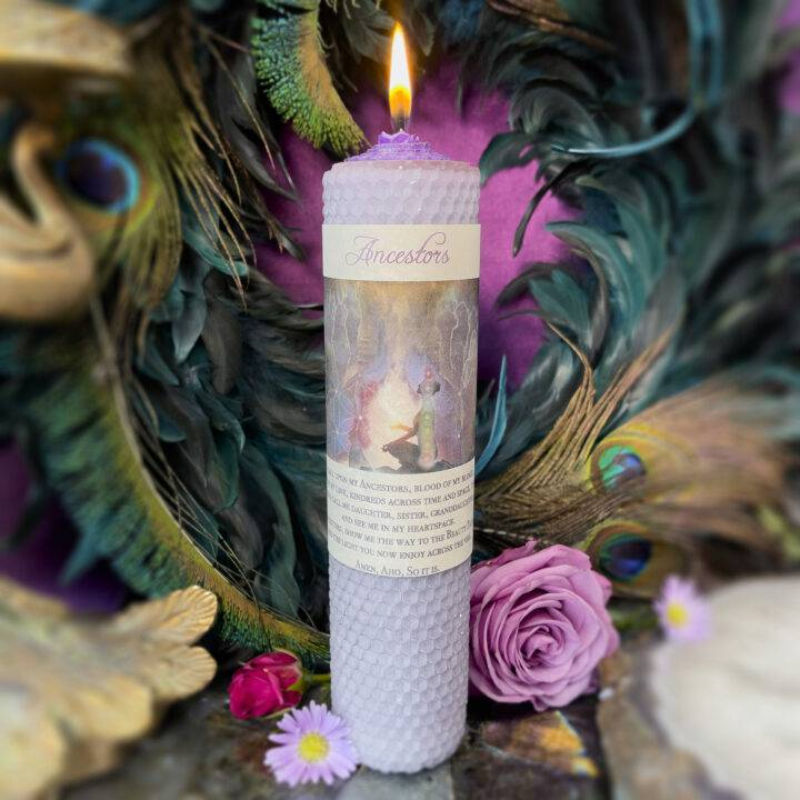Ancestors Beeswax Intention Candle