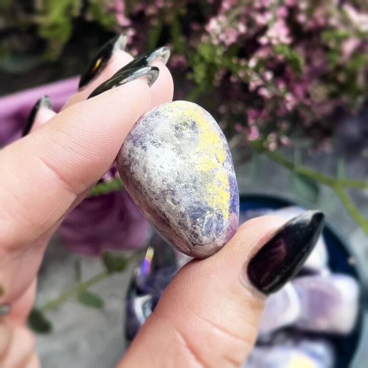 Tumbled Angel Aura Lepidolite