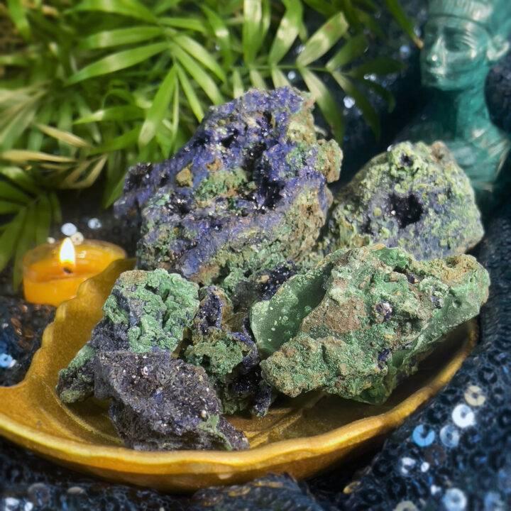 Azurite and Malachite Intuitive Healer Stone