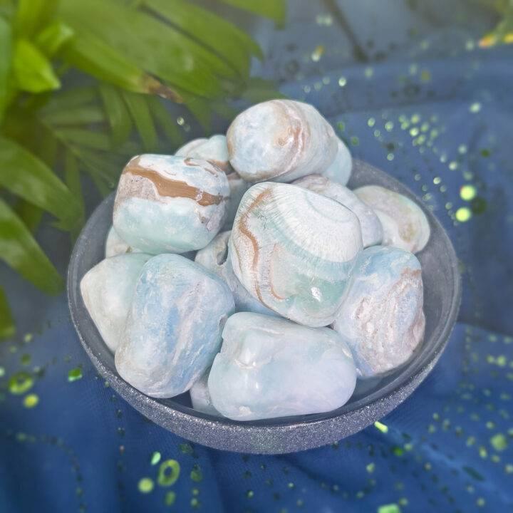 Tumbled Blue Aragonite