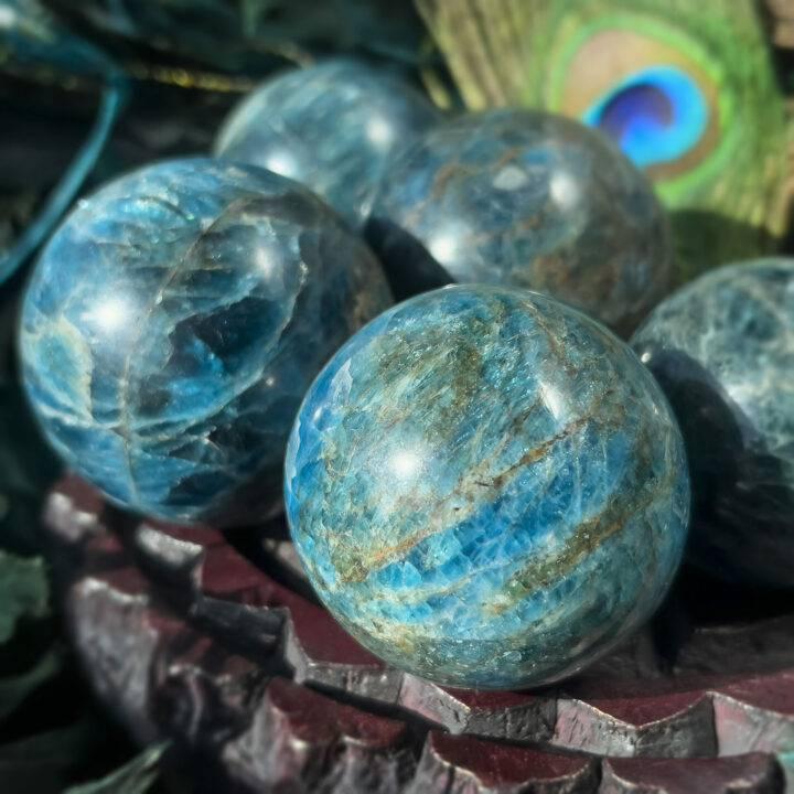 Blue Apatite Spirit Guide Sphere