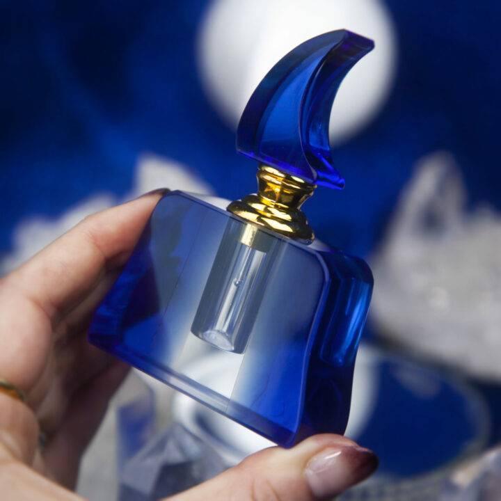 Blue Moon Crystal Perfume Bottle