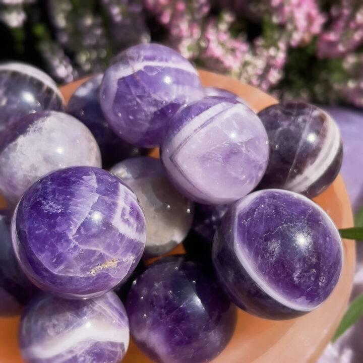 Divine Protection Mini Dream Amethyst Sphere