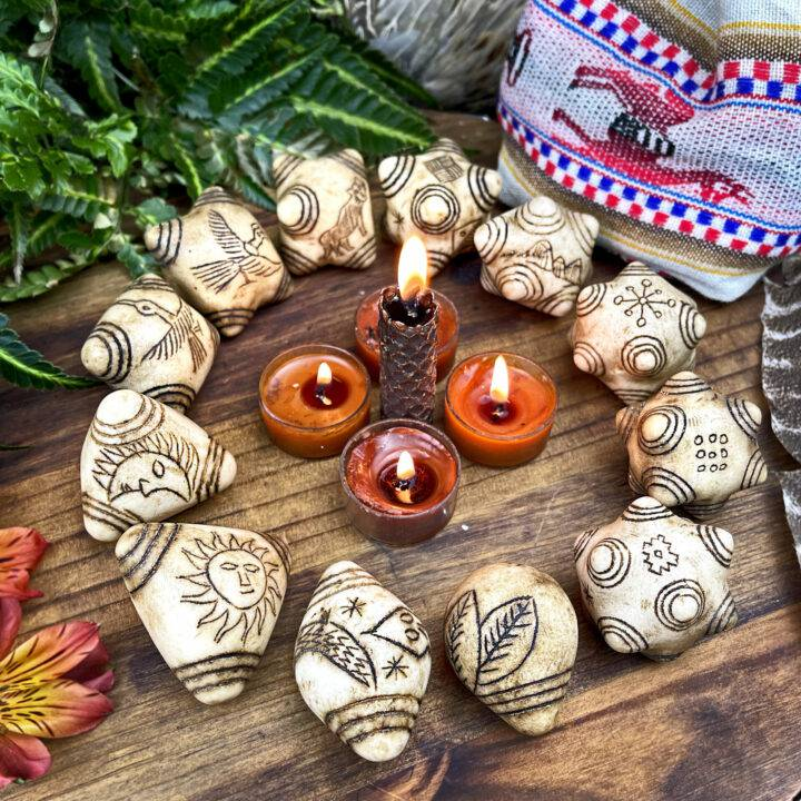 Elder Council White Alabaster Chumpi Stones