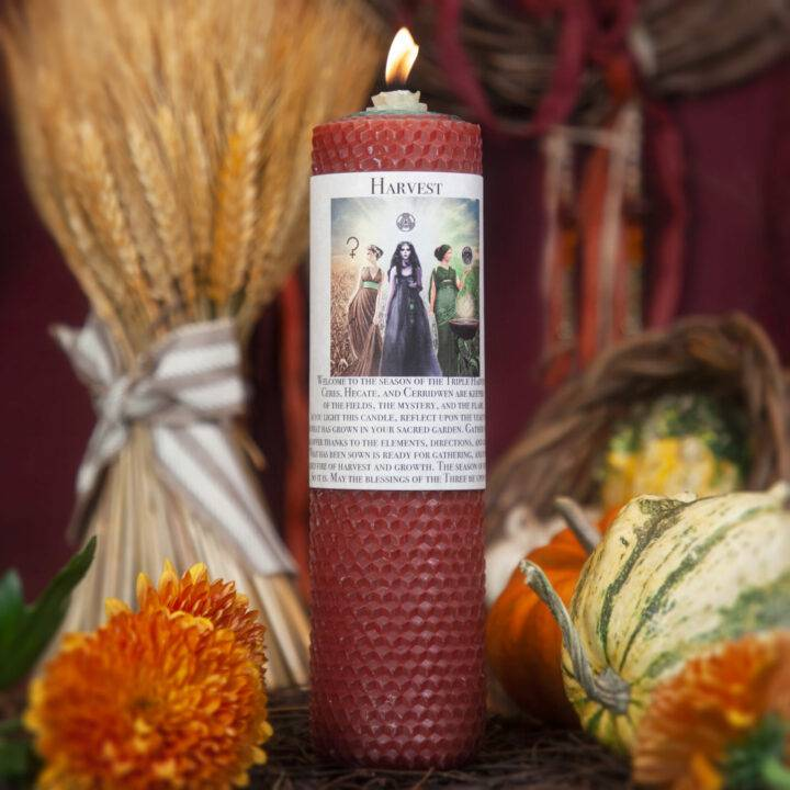 Harvest Beeswax Intention Candle