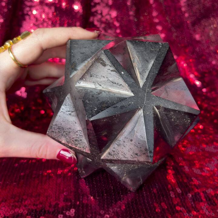 Hematite 3D Metatron's Cube