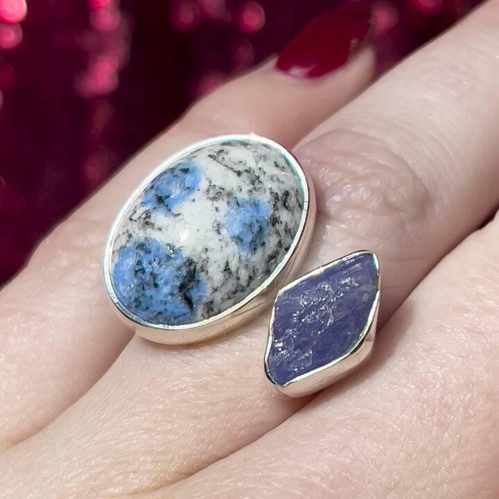 K2 and Tanzanite Ring