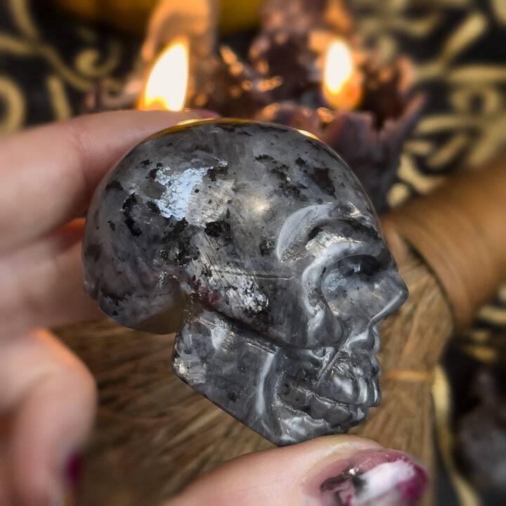 Larvikite Skull