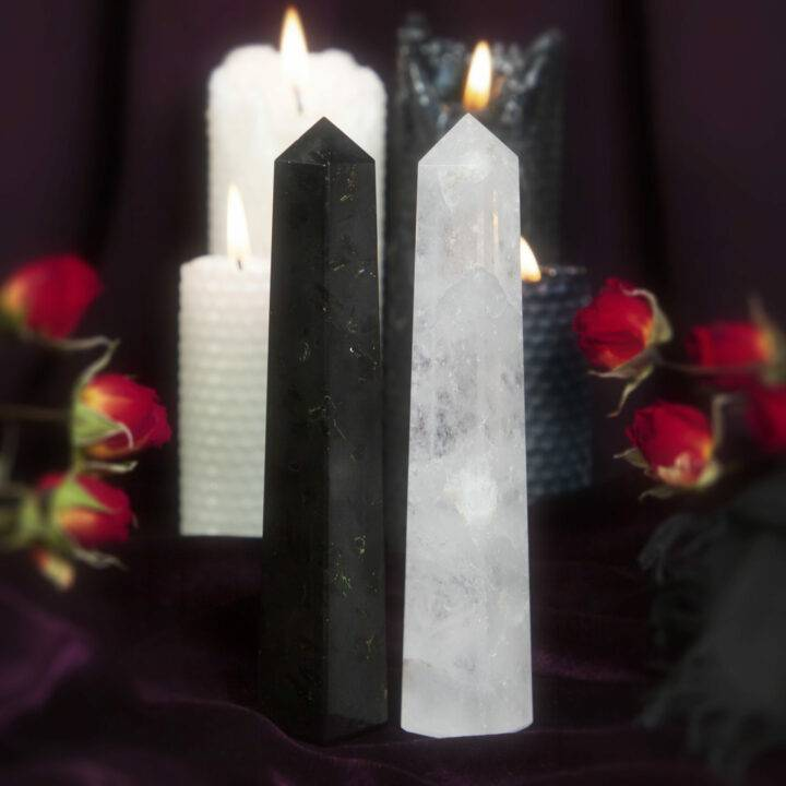 Light and Shadow Obelisk Duo