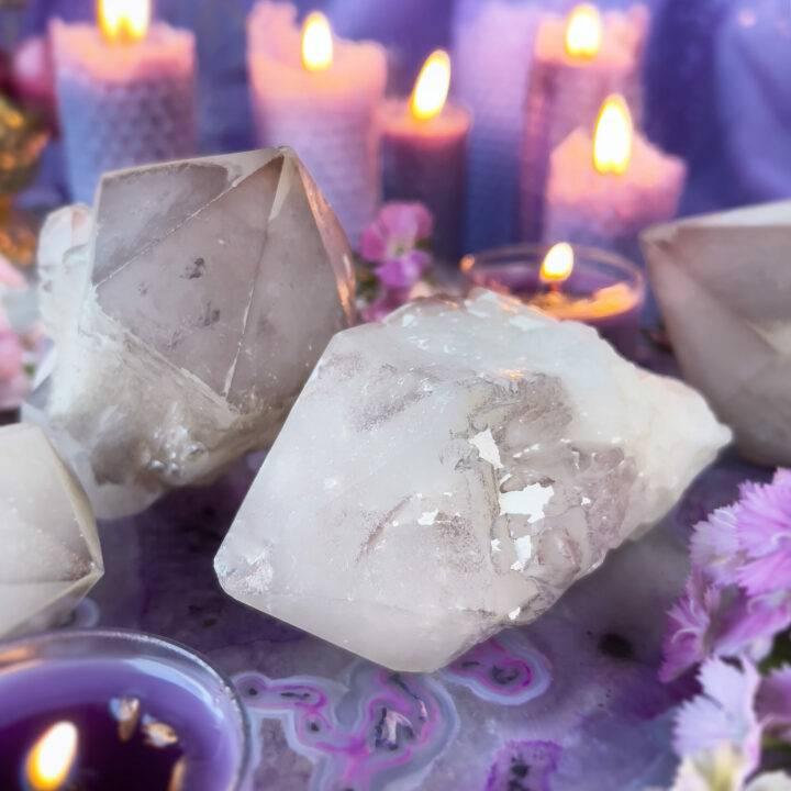 Lightbringer Lithium Candle Quartz Point