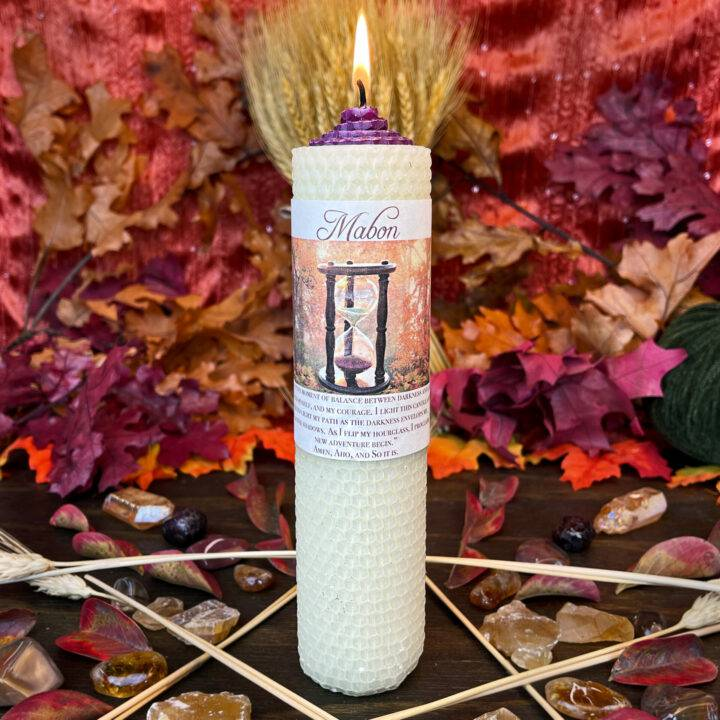 Mabon Beeswax Intention Candle