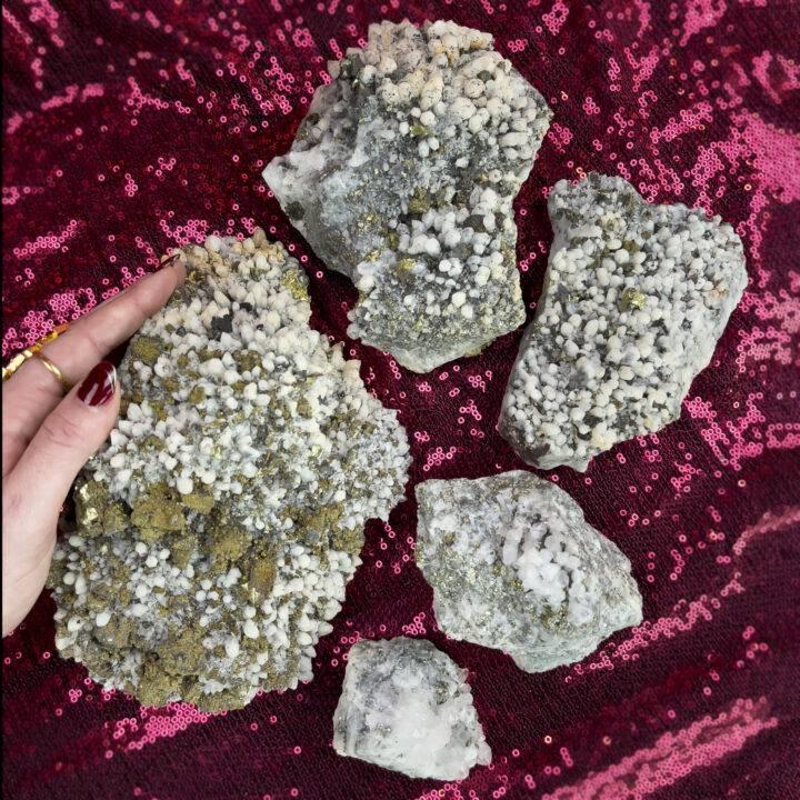 Natural Calcite and Chalcopyrite