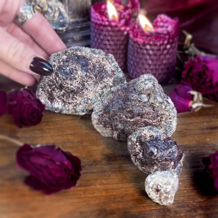 Natural Garnet in Muscovite Schist