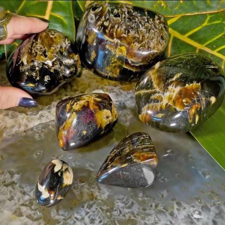 Polished Indonesian Blue Amber