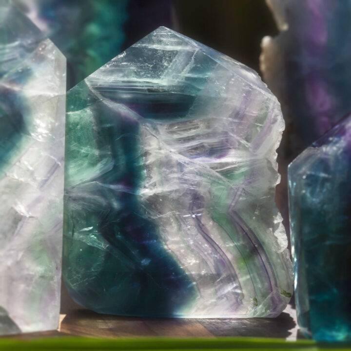 Rainbow Fluorite Natural-Sided Generator