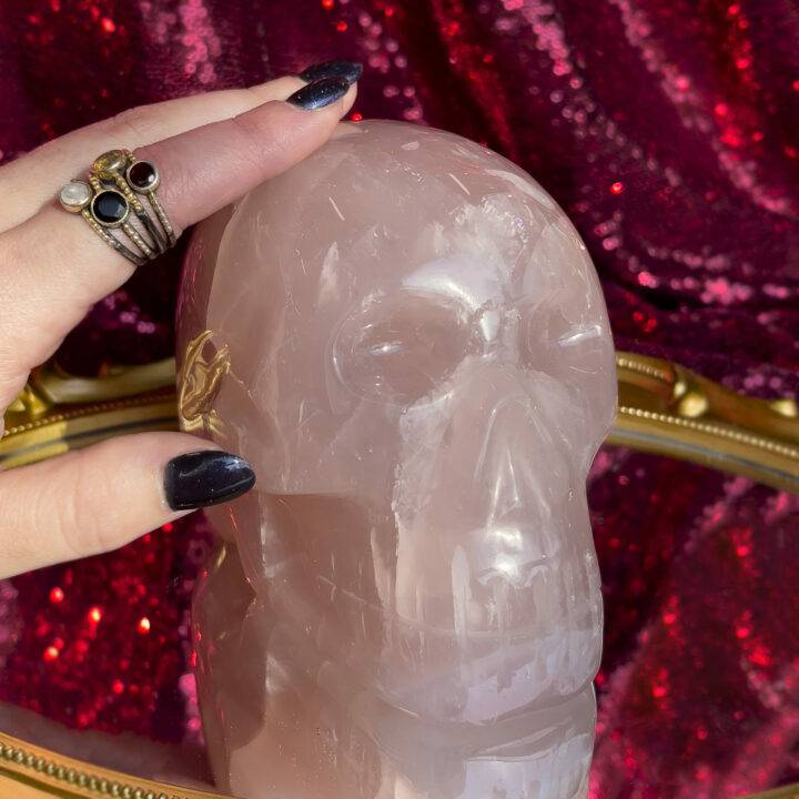 Rose Quartz Skull
