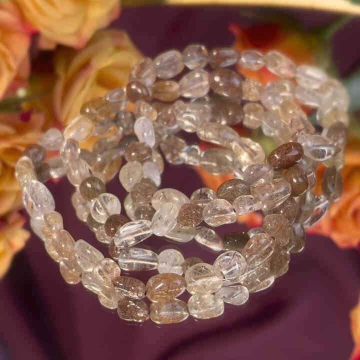 Rutilated Quartz Transformation Bracelet