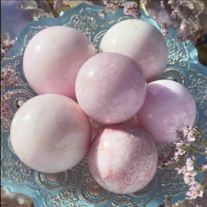 Transform in Love Pink Opal Sphere