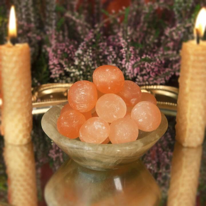 Tumbled Orange Selenite