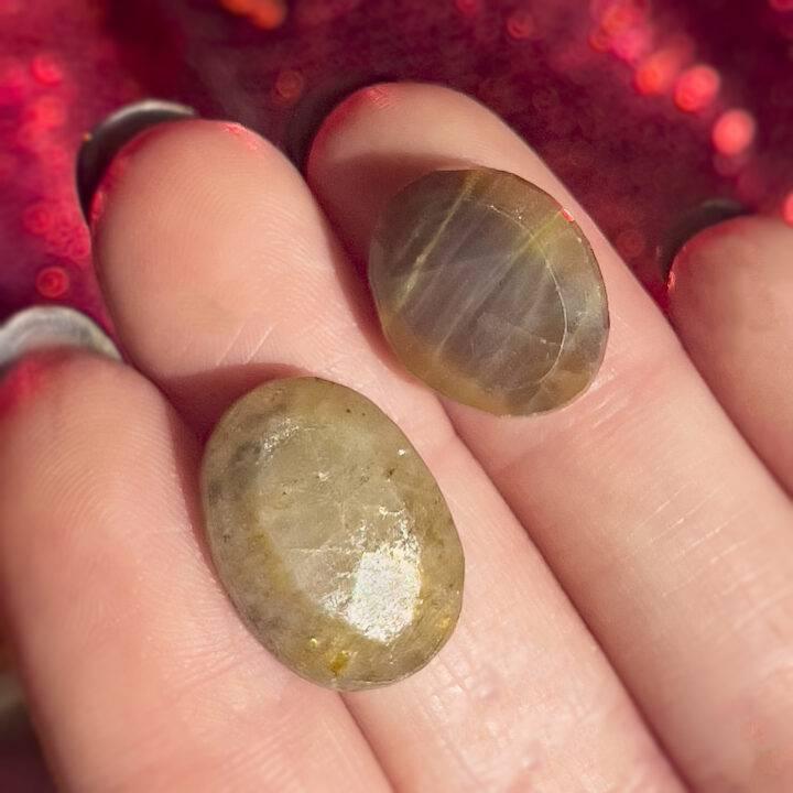 Golden Sapphire Faceted Cabochon