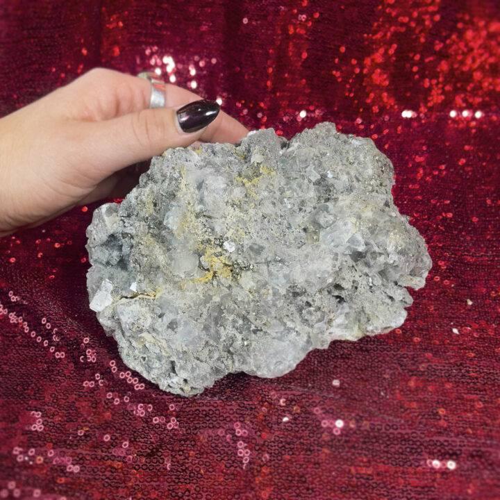 Pyrite in Quartz and Calcite
