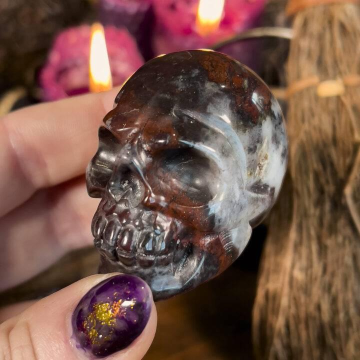 African Bloodstone Skull