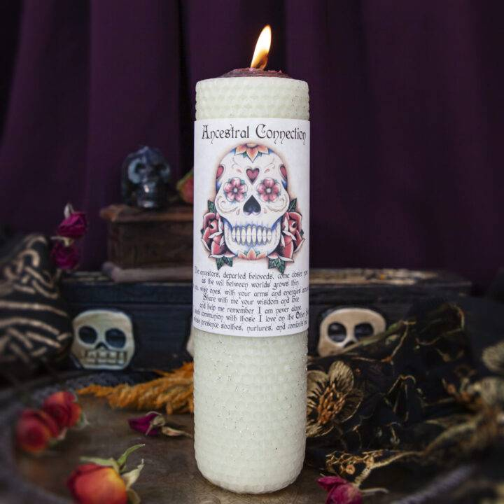 Ancestral Connection Beeswax Intention Candle