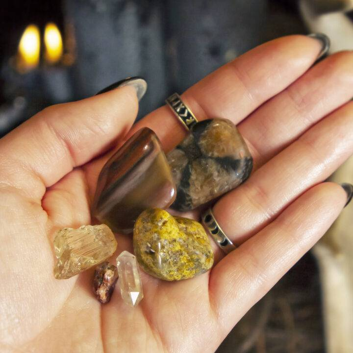 Celtic New Year Stone and Smudge Set