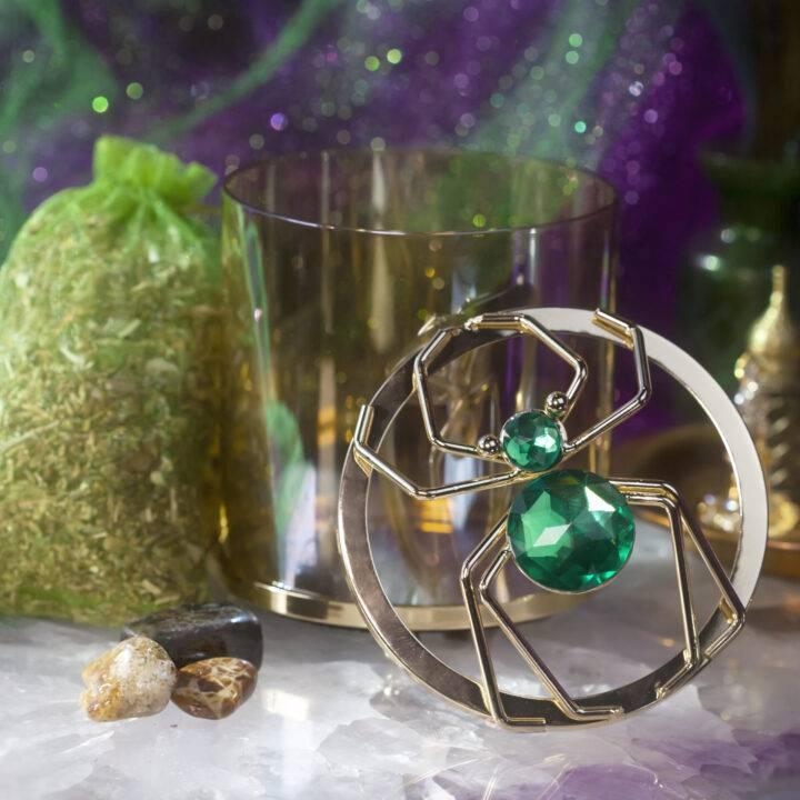 Dream Weaver Spider Jar, Incense, and Gem Set